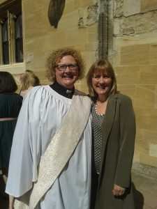 Christina Walker of Bespoke Voice with one of the ordinands she has helped to preach.