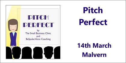 Pitch Perfect - a presentation skills workshop by BeSpoke Voice Coaching 14th March - Malvern